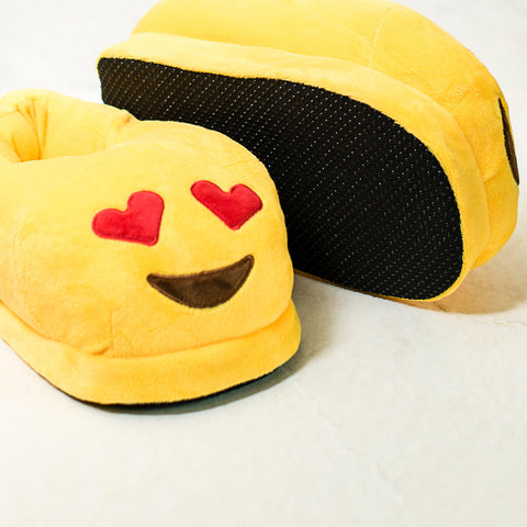 Heart Eye Emoji Slippers
