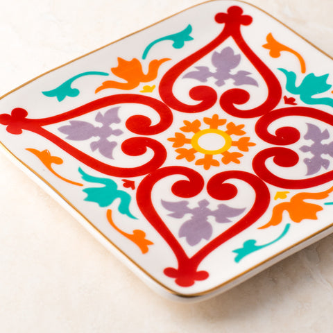 Morrocan Red & Yellow Jewelry Tray