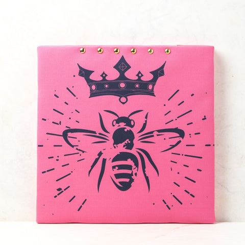 Queen Honeybee Pink Cork Board