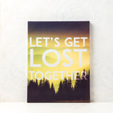 Ankit Let's Get Lost Together Wall Canvas