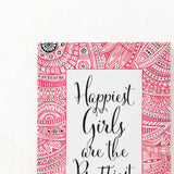 Ankit Happiest Girls Wall Canvas