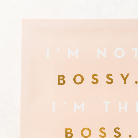 Bossy Wall Canvas