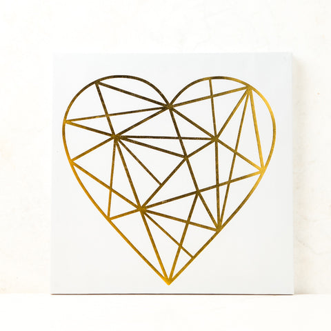 Geo Heart Wall Canvas