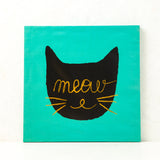 Decorative Meow Wall Canvas at shopankit.com