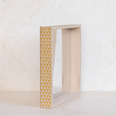 Gold Triangles Square Mirror