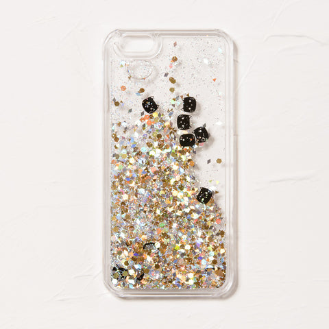 Clear Kitty Glitter iPhone 6 Case