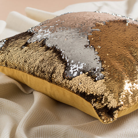 Gold Silver Mermaid Pillow