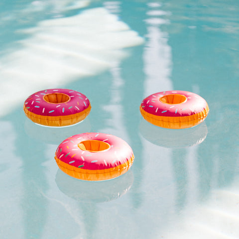 Round Donut Pink Drink Floats