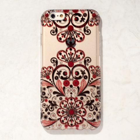 Clear Multicolor Mandala Filigree Boho Indian iPhone 6S/ 6 case