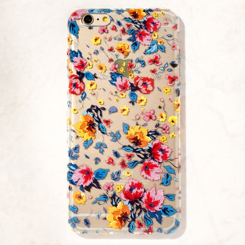 Clear Floral Burst iPhone 6 Plus Case