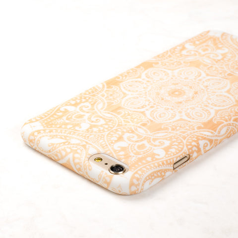 Wooden White Mandala Boho Indian iPhone 6 Plus case