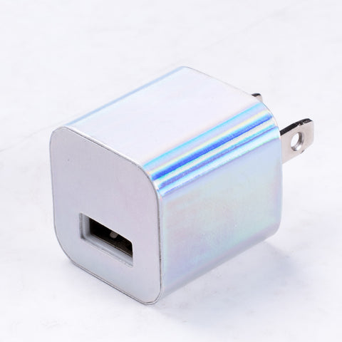 Silver Hologram Wall Charger