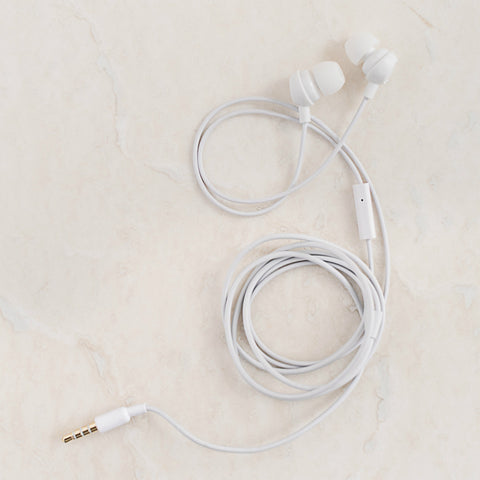 White earbuds With Mic