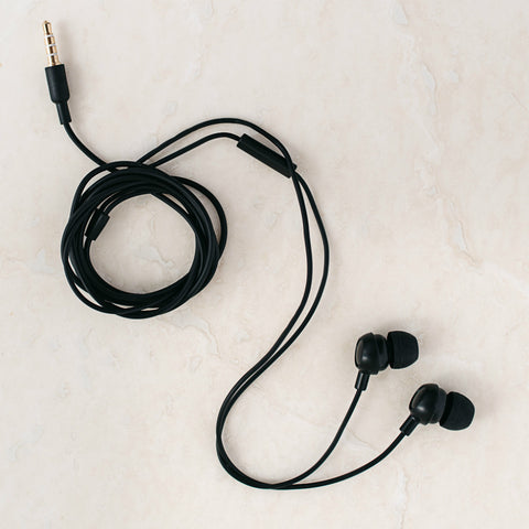 Black earbuds With Mic