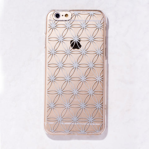 Silver Sacred Geometry iPhone 6 Case