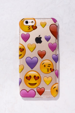 Clear Heart Emojis iPhone 6 Case