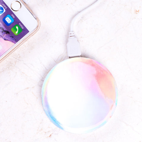 Silver Hologram Portable Charger/Power Bank