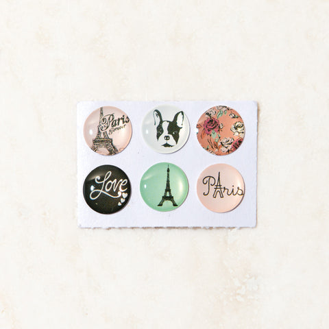 Paris Home Button Stickers