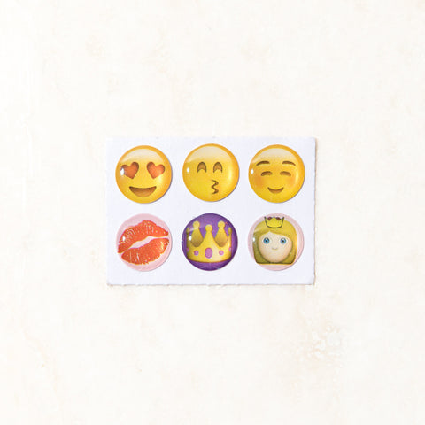 Emoji Princess Home Button Stickers
