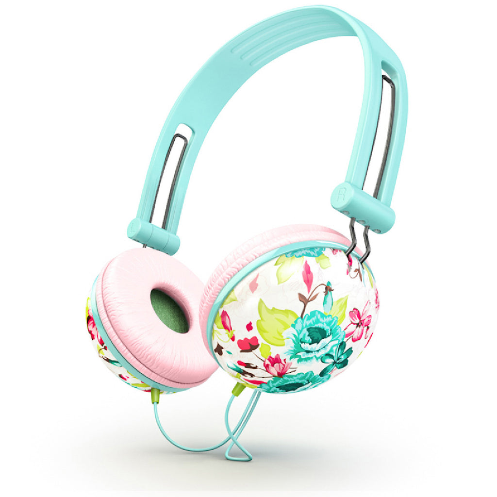 Good Bedroom Colors Ankit Pastel Teal Floral Stylish Over Ear Headphones For Girls