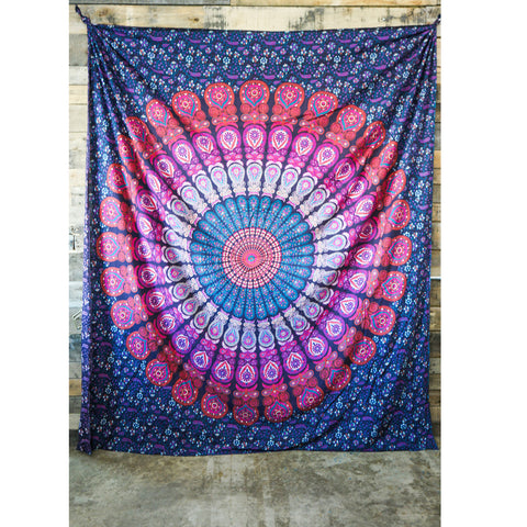 Floral Mandala Multicolor Tapestry
