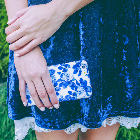 Blue Floral iPhone 6 Plus Case