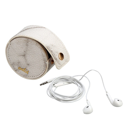 Marble Earbud Case with Smart Buds with MIC