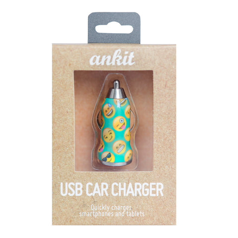 Teal Emoji Car Charger