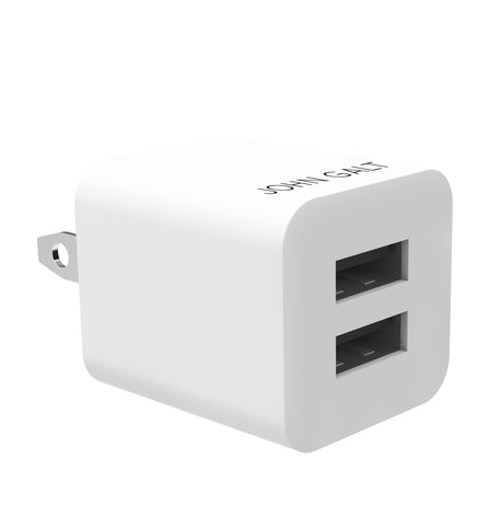 John Galt Universal High-speed 3.3A Dual USB Wall Charger