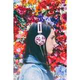 Pastel Pink Floral Headphones For Teens