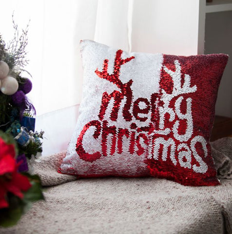 Merry Christmas & Santa Pillow with Insert