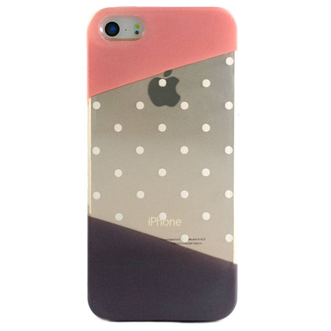 Clear Multicolor Polka Dot Pattern iPhone 5C/S/5 case