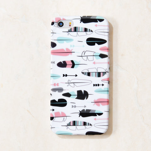 Multicolor Feathers Tribal Boho iPhone 5C/S/5 case