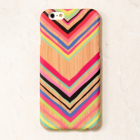 Wooden Multicolor Chevron Pattern iPhone 6S/ 6 case
