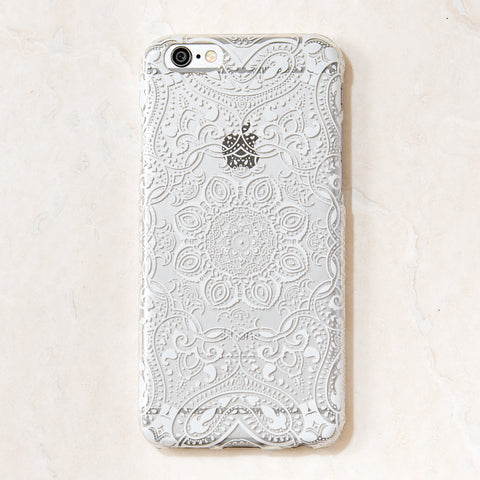 Clear White Mandala Tribal Boho Bohemian iPhone 6S/ 6 Case