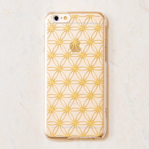 Clear Gold Sacred Geometry, Flower of Life Pattern iPhone 6S/ 6 case