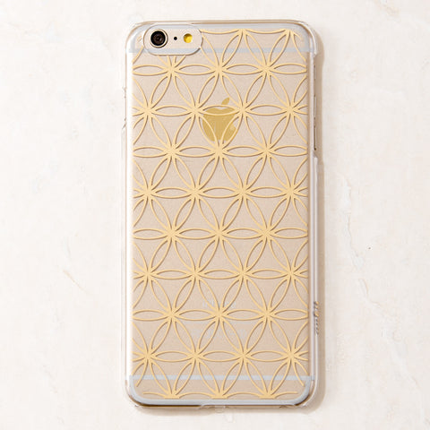Gold Sacred Geometry iPhone 6 Plus Case