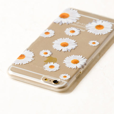 Clear Daisy iPhone 6 Plus