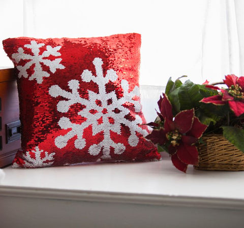 Snowflake Christmas Pillow with Insert