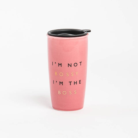 Bossy Travel 16 oz Ceramic Tumbler