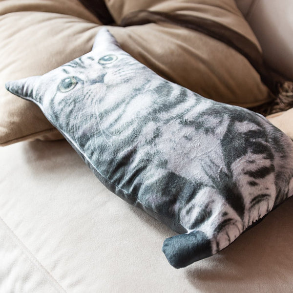 Die Cut Kitty Throw Pillow ? Ankit