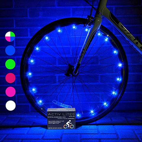 Kaitek Bike Wheel Lights LED Cycling Flashing lights for Bikes Waterproof Bicycle Wheel Lights for Safe Cycling Easy to Install Cool Bike Lights for Wheels (2 Pack)