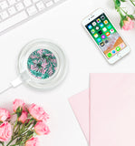 Pink Palm Leaf Wireless Charger