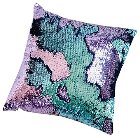 Mermaid Pillow Reversible Sequin Pillow that Changes color by Ankit - Aqua Purple
