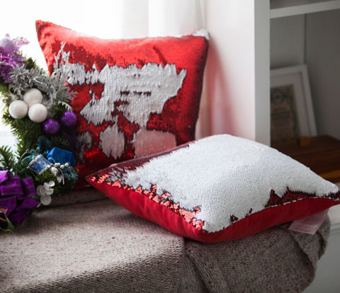Christmas Pillow Cover Pack of 4 - Red White