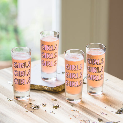 Girls Clear Shot Glasses