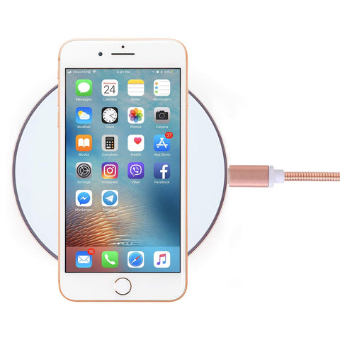 White Rose Gold Wireless Charger