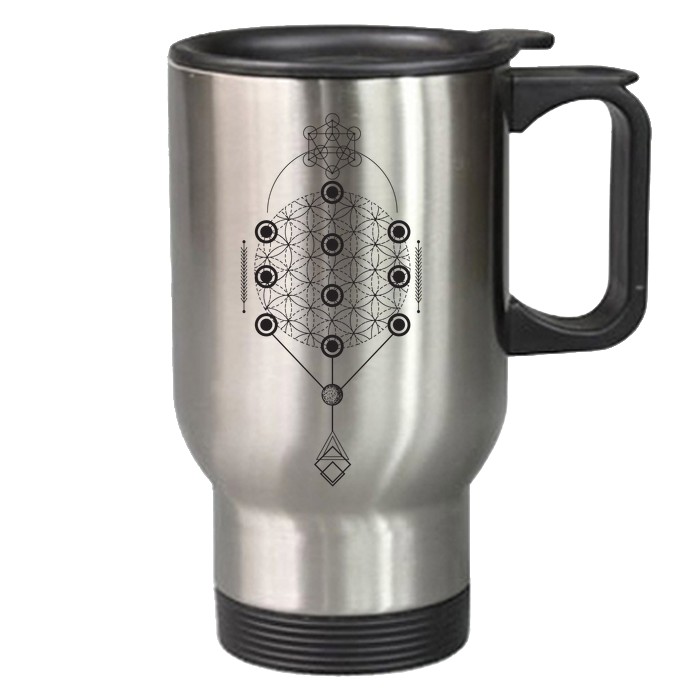 Flower of Life Travel Mug