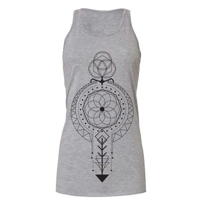 Tank Dress Crystal Grid