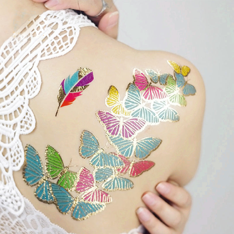Fun Festival Metallic Tattoos